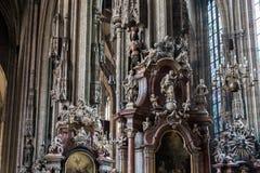 Saint Stephen Cathedral interior, Vienna Stock Photos