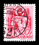 Saint Stephen, Church in Hungary serie, circa 1939. MOSCOW, RUSSIA - FEBRUARY 9, 2019: A stamp printed in Hungary shows Saint Stephen, Church in Hungary serie royalty free stock photos