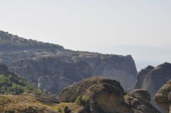 Saint Stephen Monastery de Meteora de Kalambaka em Grécia imagens de stock
