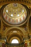 Roman catholic church. Saint Stephens Basilica - landmark attraction in Budapest, Hungary. Stock Image