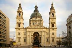 Roman catholic church. Saint Stephen Basilica, landmark attraction in Budapest, Hungary