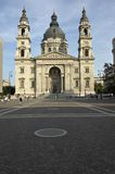 Saint Stephen's Basilica in Budapest. Hungary. Saint Stephen's Basilica cathedral in Budapest. HungaryPoint of interes in Budapest royalty free stock image