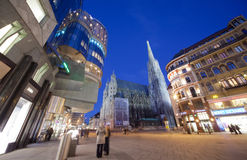 Saint Stephen's Cathedral on most famous street Royalty Free Stock Photography