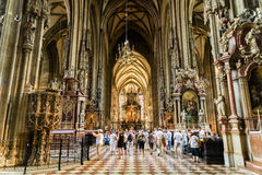 Saint Stephen's Cathedral (Stephansdom) In Vienna Stock Images