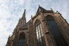 Saint Stephen`s Cathedral of Vienna city stock image