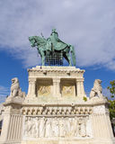 Saint Stephen's Statue in Budapest Royalty Free Stock Photography