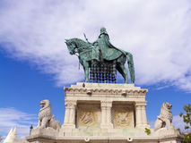 Saint Stephen's Statue in Budapest Stock Images