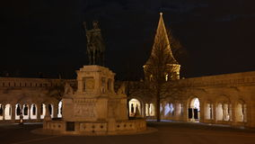 Saint Stephen Statue and Fisherman`s bastion Royalty Free Stock Images