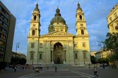 Saint Stephens Basilica in budapest 1. Saint Stephens Basilica cathedral at sunset in budapest stock photo