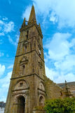 The Saint-Suliau church in Sizun (Brittany, France). Stock Image