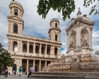 Saint Sulpice Church Paris Royalty Free Stock Image