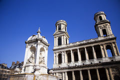 Saint Sulpice church. Stock Images