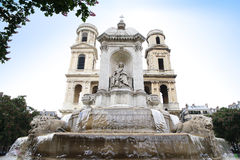 Saint-Sulpice (Iglesia de Saint-Sulpice) in Paris, France. Royalty Free Stock Photography