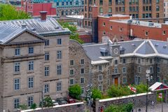 Montreal, Canada: Saint Sulpice Seminary building exterior royalty free stock photos