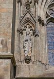 Saint Swithun sculpture of Stavanger Cathedral, Norway Royalty Free Stock Image