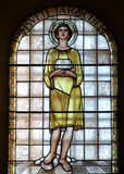 Saint Tarcisius. Stained glass church window Royalty Free Stock Photo