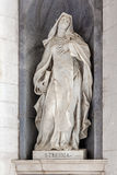 Saint Teresa of Avila. Italian Baroque sculpture - 18th century - in Mafra National Palace and Convent in Portugal. Baroque architecture Stock Photo