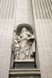 Saint Teresa statue inside St. Peter's. royalty free stock photography