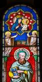 Saint Thadeus Jude Mary Stained Glass Baptistery Pisa Itália fotos de stock