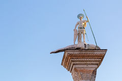 Saint Theodor statue in Vencie Italy Stock Images