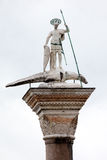 Saint Theodore column in Venice Stock Image