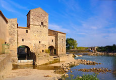 Saint-Thibery watermill, Languedoc-Roussillon Stock Images