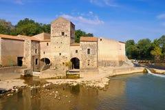 Saint-Thibery watermill, Languedoc-Roussillon Royalty Free Stock Photo