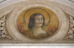 Saint Thomas the Apostle. Mosaic in the basilica of Saint Paul Outside the Walls, Rome, Italy royalty free stock photos