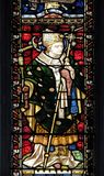 Saint Thomas Becket. From Canterbury, stained glass of All Saints` Anglican Church, Rome, Italy royalty free stock image
