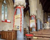 Saint Thomas Church Remembrance Day Decorations C photographie stock