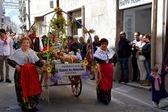 Saint Thomas Feast, senior women at thanks procession in Ortona, Abruzzoo
