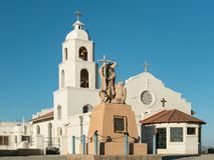 Saint Thomas Indian Mission, Yuma, o Arizona imagem de stock