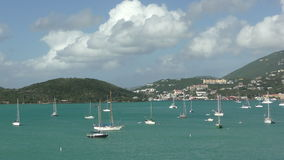 Saint Thomas, USVI in the Caribbean stock footage