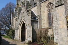 Saint Tremeur church in Carhaix Stock Photo