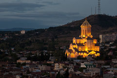 Saint Trinity cathedral in Tbilisi. Stock Photography