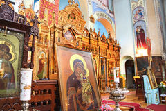 Saint Trinity Orthodox Convent interior Stock Photo