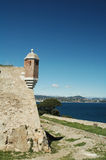 Saint Tropez. The citadel of saint-tropez is a walled fortress sitting on the hilltop overlooking the town and the surrounding gulf and sea. It was built at the stock photos