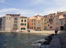 Saint Tropez. Beautiful sea and beach at Saint Tropez royalty free stock images