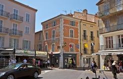 Saint Tropez -Architectuur van stad Stock Afbeelding