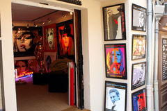 Saint-Tropez BB shop French Riviera Stock Images