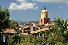 Saint Tropez. Church of Saint-Tropez in Provence - France royalty free stock photo