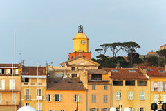 Saint Tropez clock tower Royalty Free Stock Photo