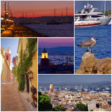 Saint Tropez collage Stock Images