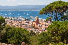 Saint Tropez e porto Immagine Stock Libera da Diritti