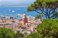 Saint Tropez et port Photo stock