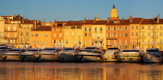 Saint Tropez in the evening light Stock Photo