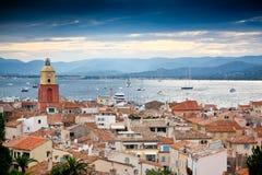Saint Tropez, France. Beautiful view of Saint-Tropez, France royalty free stock photography
