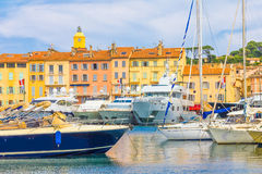 Saint-Tropez in France. Saint-Tropez in the South of France stock photos