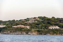 Saint Tropez France. Villa`s of the jetset near the village Saint Tropez in France royalty free stock image