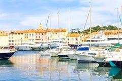 Saint Tropez in Francia Fotografie Stock